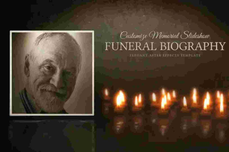 Funeral Biography-Customize Memorial Slideshow Templates for After Effects