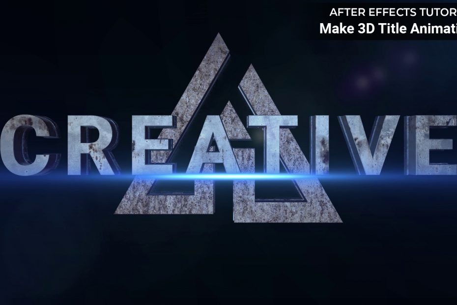 make 3d title animation in after effects