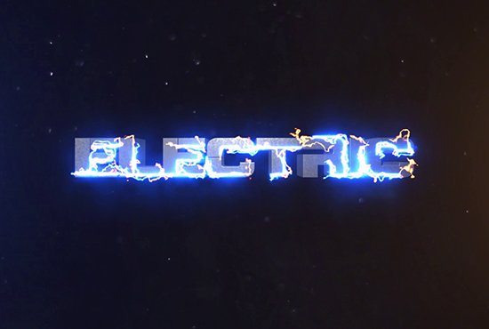 Electric intro and text animation