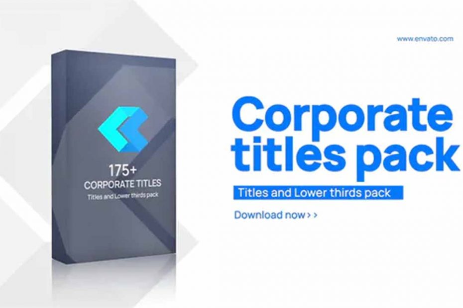 Corporate Titles and Lower thirds pack download